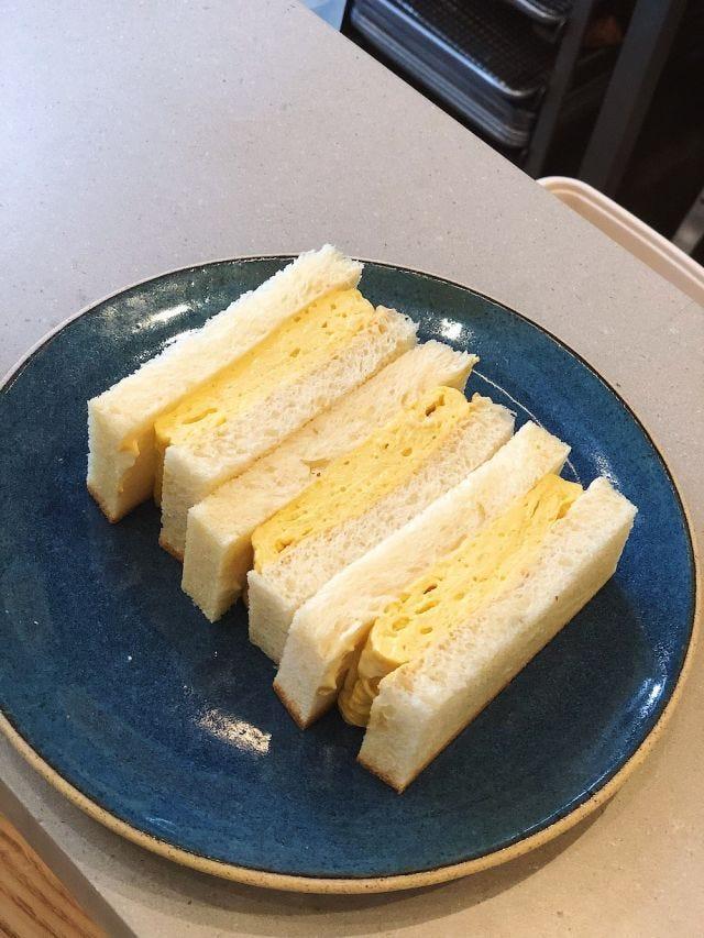 Konbi's layered omelet sando