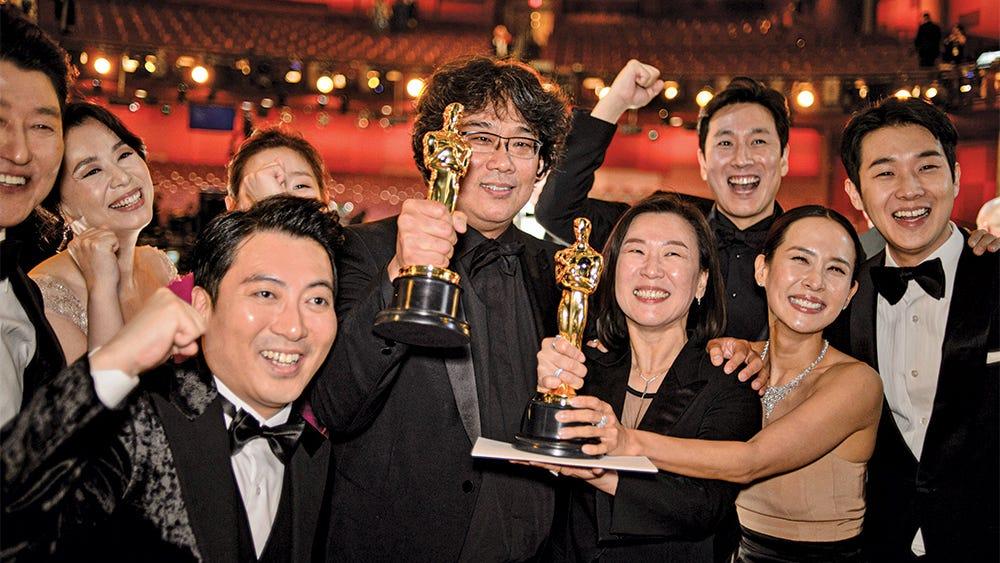 Parasite Bong Joon Ho Oscar Win Cast Celebration
