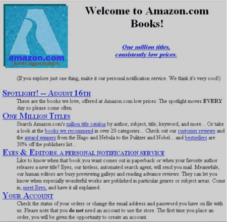 Image result for amazon first website