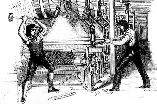 Image result for luddites