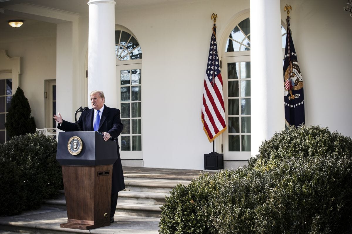 Image result for trump emergency