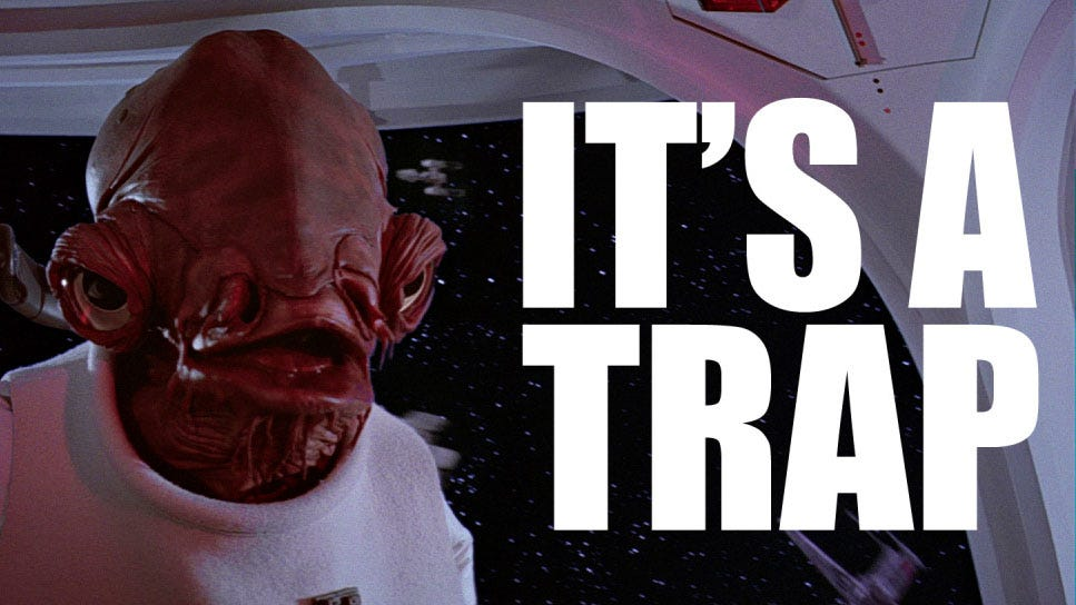 Image result for it's a trap meme