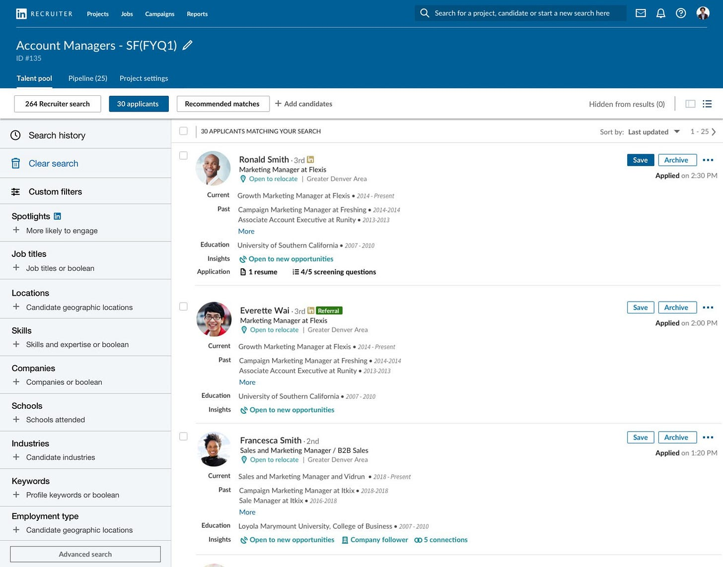 Image result for linkedin jobs matching