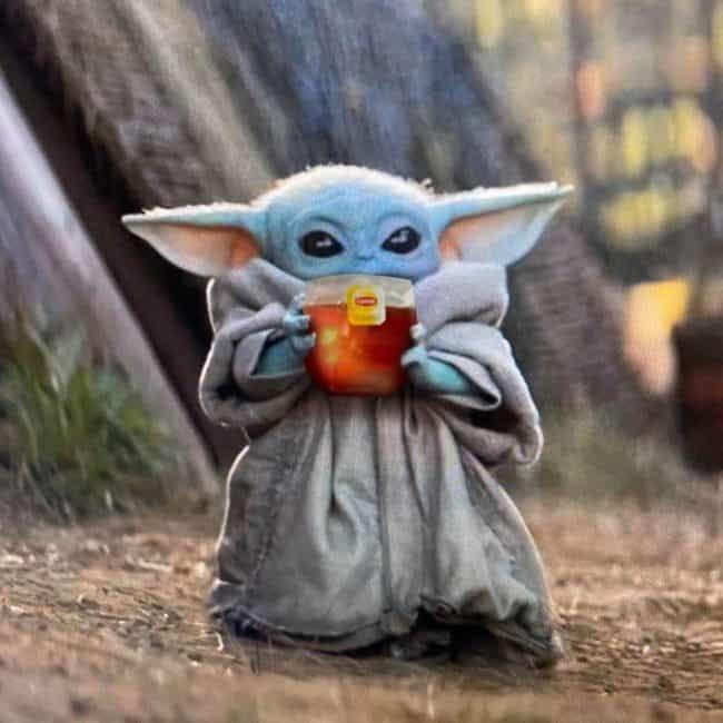 """Image result for baby yoda tea meme"""""""