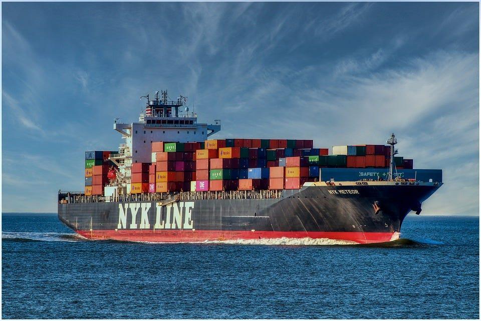 Container Ship, Lake, Ship, Sea, Cargo, Frachtschiff