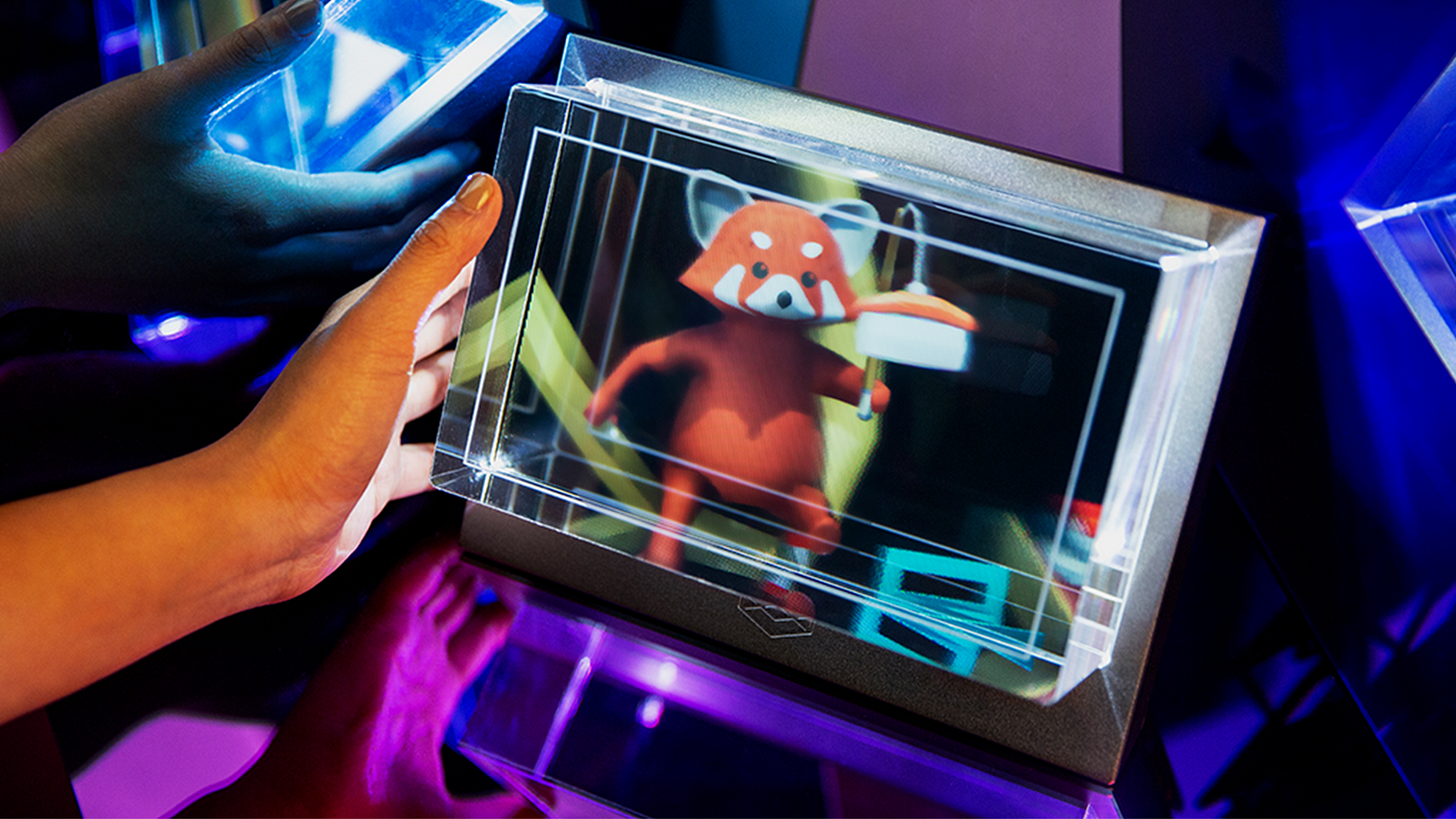 The Looking Glass is the first desktop holographic display designed for 3D creators. No VR or AR headgear required.