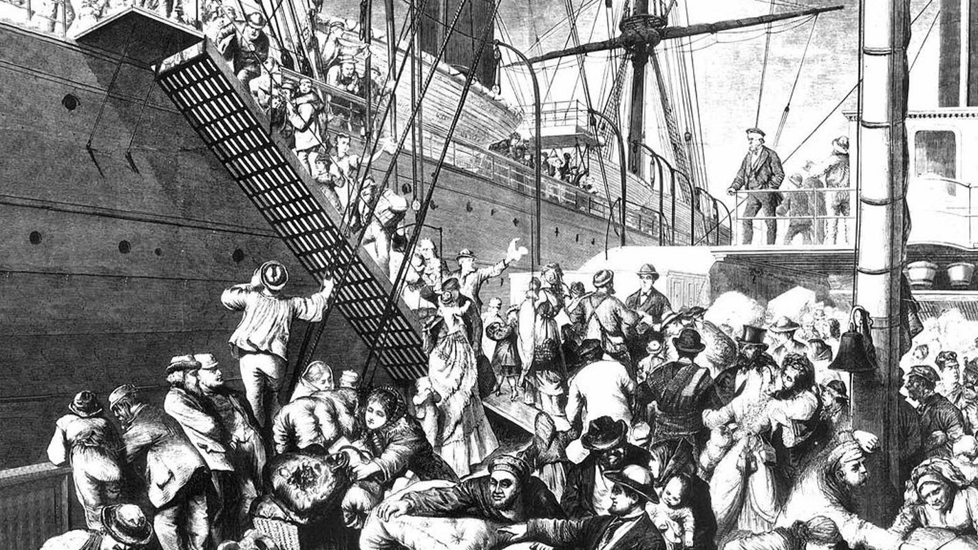 Image result for immigrants boarding queen elizabeth ship