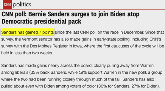 BERN NOTICE: Bernie Tops CNN's National Poll -- And 5 Poll Numbers You May Have Missed