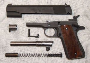 Field stripped Springfield 1911