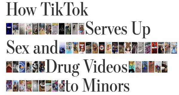 How TikTok Serves Up Sex and Drug Videos to Minors