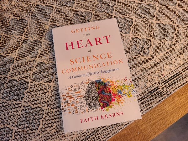 Photo of Faith Kearns book Getting to the Heart of Science Communication