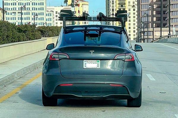 Tesla Model Y with LiDAR