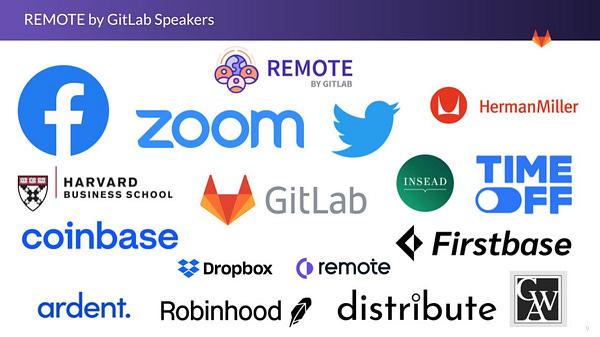 REMOTE by GitLab Speakers Brand Logos