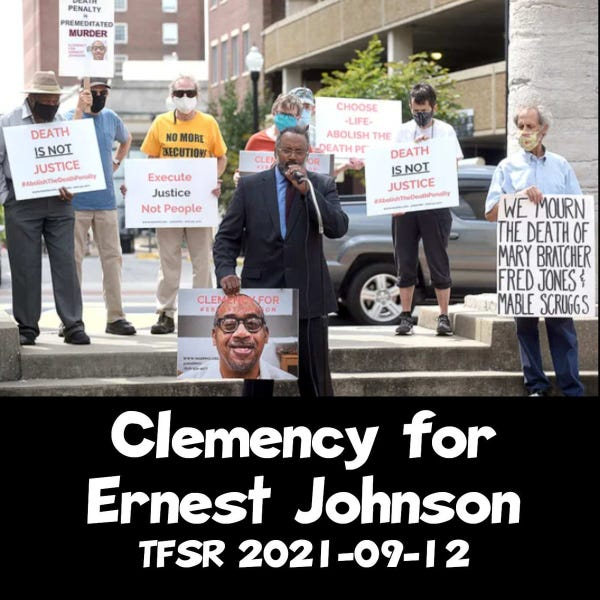 A protest in Boone County, MO, for clemency for Ernest Johnson