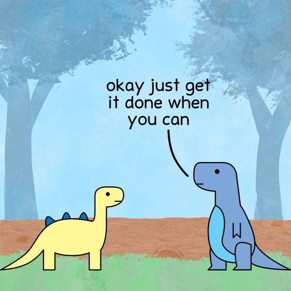T-rex: ok just get it done when you can