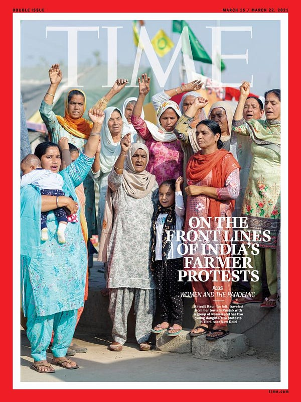 TIME Cover: On the front lines of India's farmer protests