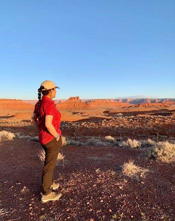 Secretary Haaland stands overlooking Valley of the Gods