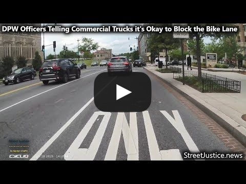 DPW Encouraging Bike Lane Blocking